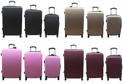20 24 28 Hard Shell Cabin Suitcase 4 Wheel Luggage Spinner Lightweight