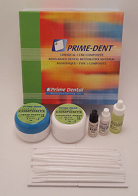 Prime Dent Dental Chemical Self Cure Composite Kit 15gm15gm - Bonding USA Made