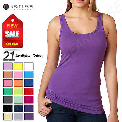 NEW Next Level Womens Spandex Jersey Tank Top M-3533