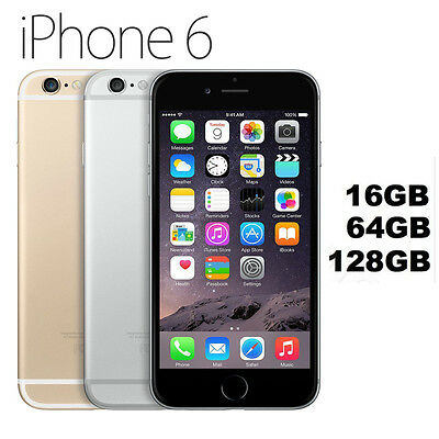 Apple iPhone 6 16gb 64gb 128gb Space Grey Silver Gold Unlocked Smartphone