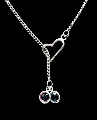Birthstone Personalize Heart Mothers Day Gift Y Lariat Necklace