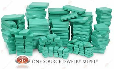 Teal Blue Cotton Filled Gift Boxes Jewelry Cardboard Box Lots of 122550100