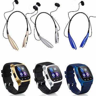 Bluetooth Smart Wrist Watch - Earphone For IOS Android iPhone Samsung HTC Huawei