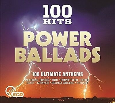 Various Artists - 100 Hits Power Ballads  Various New CD UK - Import