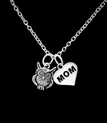 Owl Animal Nature Bird Mothers Day Mom Gift Mama Owl Necklace