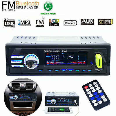 Car In-Dash Bluetooth Stereo MP3 Player FM Radio Audio USBSD Aux Input Receiver