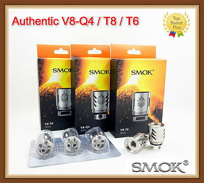 Authentic SMOK TFV8 V8-Q4  V8-T8  V8-T6  V8-T10 Coil for Cloud Beast Tank