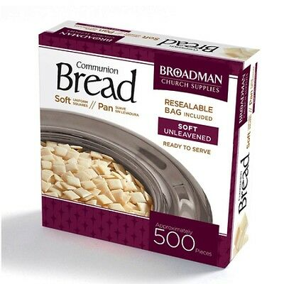 BRAND NEW - COMMUNION BREAD SOFT UNLEAVENED -BOX OF 500 PIECES