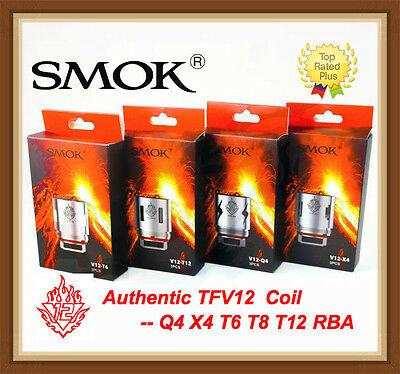 Authentic SMOK TFV12 Coil V12-Q4X4T6T12RBA for TFV12 Cloud Beast King Tank