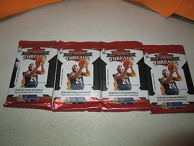 2009-10 Panini Threads Basketball Lot of 4 SEALED Packs