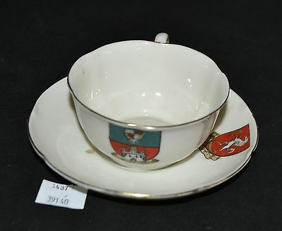 ThriftCHI  Ceramic Cup - Saucer - W-H- Goss Windsor Shield Dyson - Sons