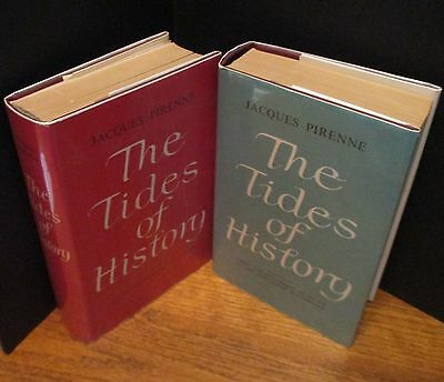 2 Hardcover Book Set-THE TIDES OF HISTORY-JACQUES PIRENNE-Outer Dust Jackets