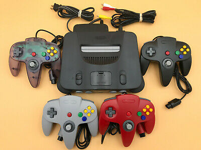 N64 Nintendo 64 Console - UP TO 4 NEW CONTROLLERS - Cords - CLEANED INSIDE - OUT