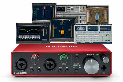 Focusrite Scarlett 2i2 Interface - Waves Musicians 2 - iZotope Mobius Filter