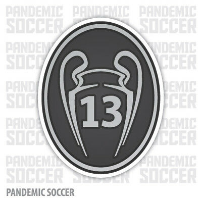 Champions League 13 Real Madrid Vinyl Sticker Decal Football UEFA Badge Madrid