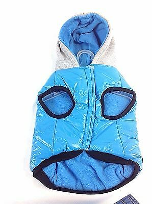Pet  Puppy Dog Cat Warm Coat  Hoodie Hooded Jacket Size Small 10