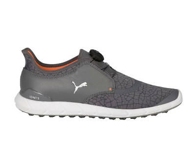 Puma Ignite Disc Extreme Golf Shoes 190169-03 Smoked PearlSilver Mens - New