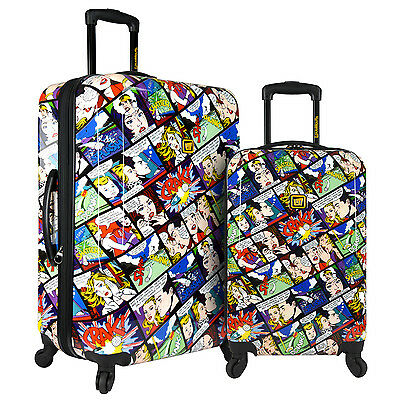 Loudmouth 2pc Crak  Party Mix Printed Hardside Expandable Spinner Luggage Set