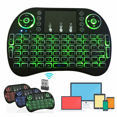 US Mini i8 Wireless Keyboard 2-4G with Touchpad for PC Android Desktop PC TV Box