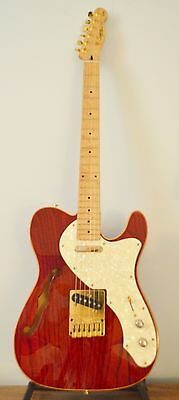 1996 Squire Telecaster Thinline Electric Guitar and case 50th Anniversary Model