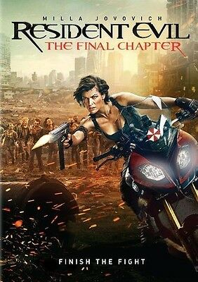 Resident Evil The Final Chapter DVD 2017 Sealed New Free shipping