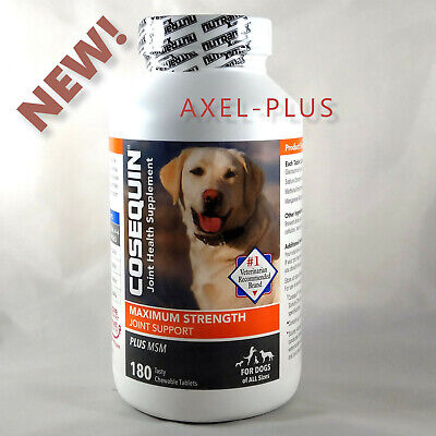 Cosequin DS Plus MSM Joint Health Supplement for Dogs 180 count-Chewable Tablets