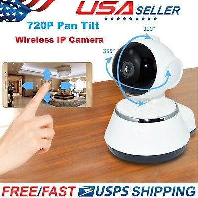 720P Pan Tilt Wireless Outdoor IP Network Security WiFi Camera with Night Vision