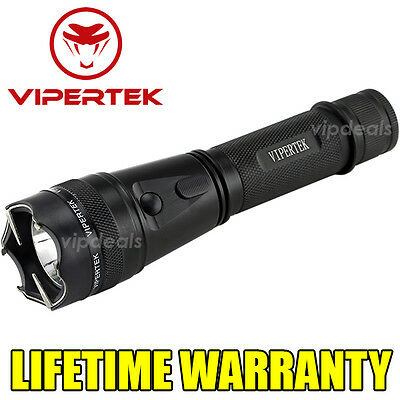 VIPERTEK METAL VTS-195 - 170 BV Rechargeable LED Flashlight Stun Gun