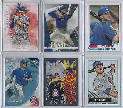 2017 Topps Kris Bryant card lot of 6 cards