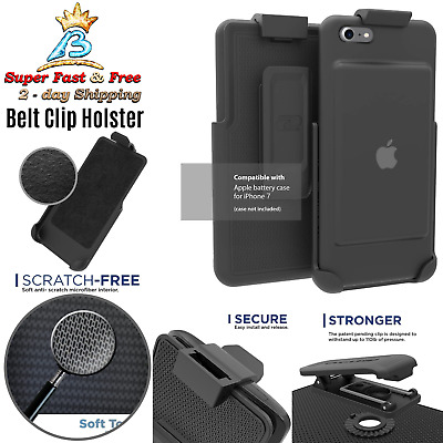 Iphone 7 Apple Smart Battery Case Belt Clip Holster Black Encased Rotating New