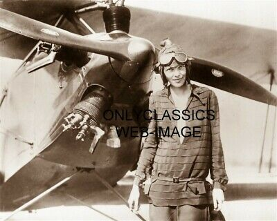 YOUNG PILOT AMELIA EARHART AVIATRIX BIPLANE AIRPLANE PROPELLER PHOTO AVIATION