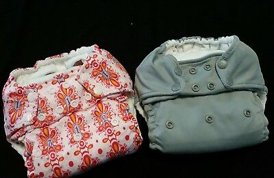 Kangacare Rumparooz One Size Pocket Cloth Diaper with Soakers Lot of 2