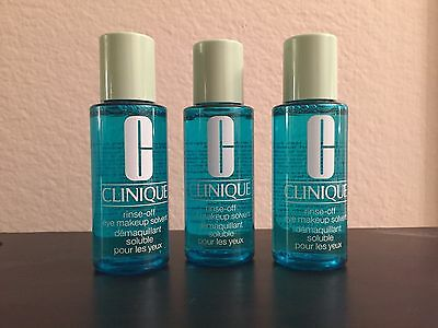Clinique Eye Makeup Remover 2oz - Lot Of 3 - W FREE Makeup Bag
