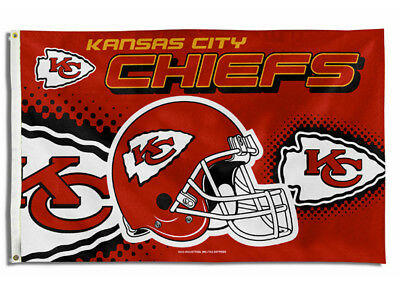 KANSAS CITY CHIEFS FLAG 3X5 NFL HELMET BANNER FREE SHIPPING