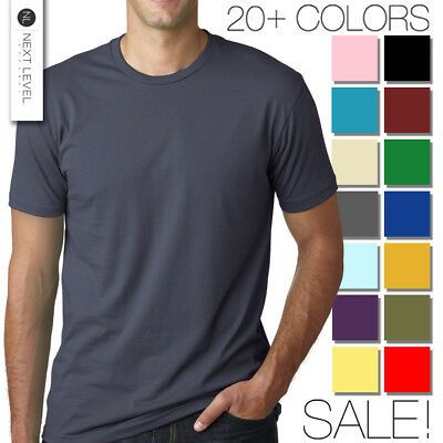 Next Level Apparel Premium Crew Neck T-Shirt - Mens Soft Fitted Basic Tee 3600
