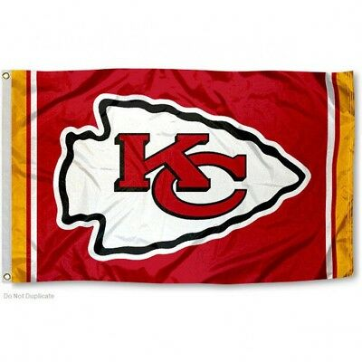KANSAS CITY CHIEFS FLAG 3X5 NFL TEAM LOGO BANNER FREE SHIPPING