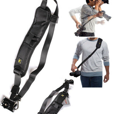 Quick Rapid Shoulder Sling Belt Neck Strap for Camera SLRDSLR Nikon Canon Sony
