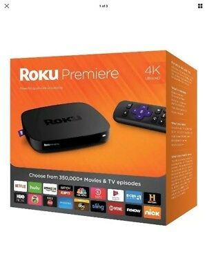 NEW Roku Premiere 4K Ultra HD Streaming Media Player 4620R 2016 Model