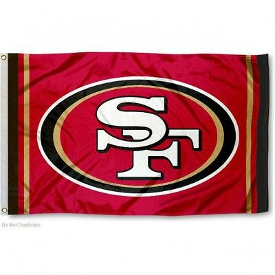 SAN FRANCISCO 49ERS RED FLAG 3X5 NFL LOGO BANNER FREE SHIPPING