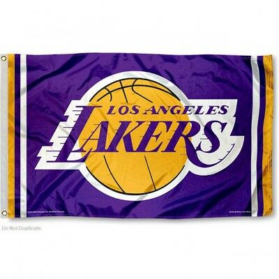 LOS ANGELES LAKERS FLAG 3X5 NBA L-A- LAKERS BANNER FAST FREE SHIPPING