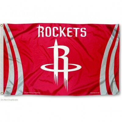 HOUSTON ROCKETS FLAG 3X5 NBA LOGO BANNER FAST FREE SHIPPING