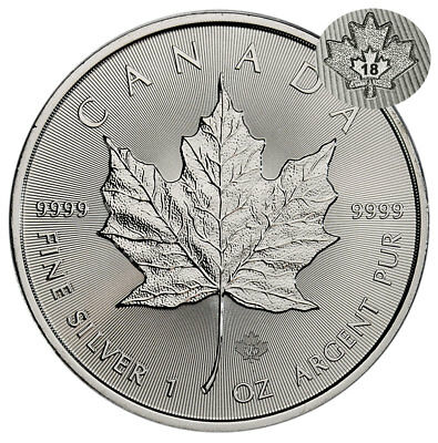 2018 Canada 1 oz Silver Maple Leaf 5 Coin GEM BU Coin SKU49792