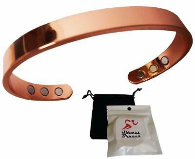 New Pure Copper Magnetic Bracelet Arthritis Therapy Energy MEN WOMEN CUFF -POUCH