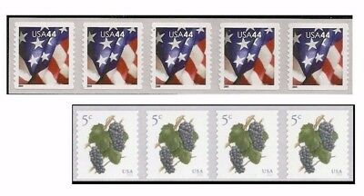 DISCOUNT-Mail 100 Letters  44c Flag and 5c Grapes - 49 FACE VALUE - UNDER FACE