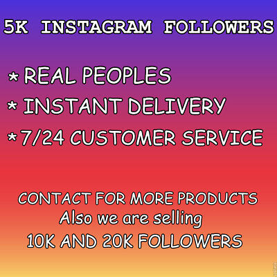 5K Instagram Followers-CHEAPEST-INSTANT-REAL-HQ-
