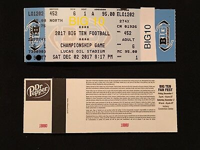 1-8 Tickets Big 10 Ten Championship Game 122 Sec 452 Row 6 End Zone