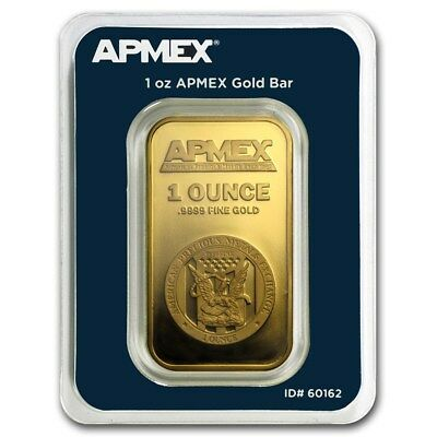 1 oz Gold Bar - APMEX In TEP Package  - SKU 90600
