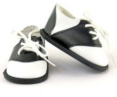 Black and White Saddle Oxfords Shoes for 18 American Girl Doll Clothes Lovvbugg