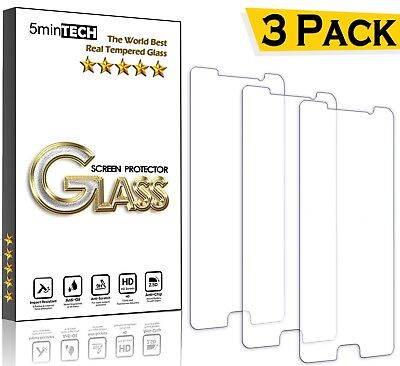 3 PACK Lot Tempered GLASS screen protector for SAMSUNG GALAXY S9 S8 S7 S6