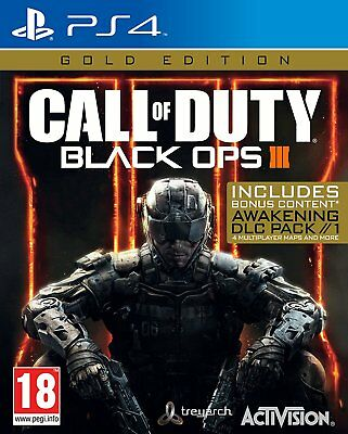 Call of Duty Black Ops 3 III - Gold Edition Sony PlayStation 4 PS4 Bonus COD